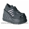 STOMP-08 Black Faux Leather